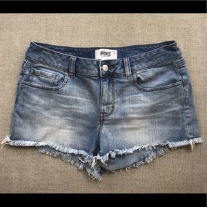 Victoria's Secret Pink Cut Off Jean Shorts, Size 8